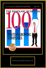 100 Fastest Growing Companies - language professionals