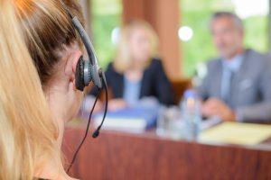 interpreter at a meeting